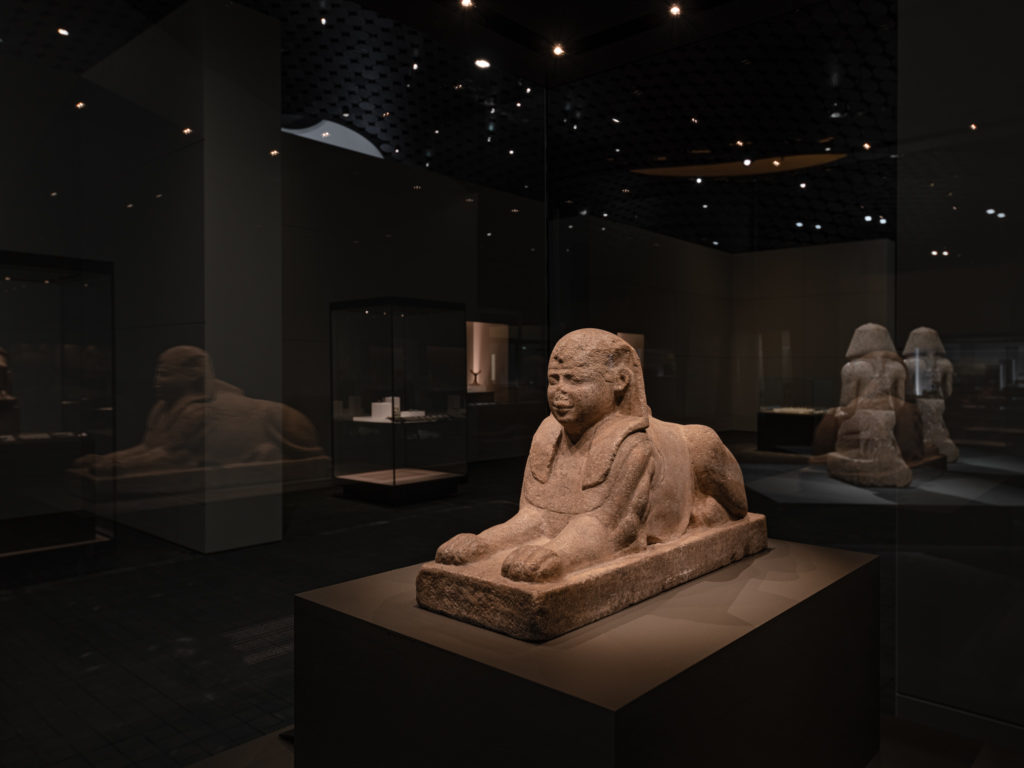 Sphinx, Roman Period, 30 BC – 395 AD., limestone, Collection Museo Egizio. Photo: Aleksi Tikkala